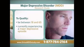 Sirius MDD Study TV Spot - Thumbnail 7