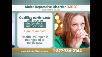 Sirius MDD Study TV Spot - Thumbnail 8