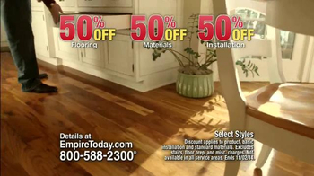 Empire Today 50/50/50 Sale TV Spot, 'Free In-Home Estimate' - Thumbnail 6