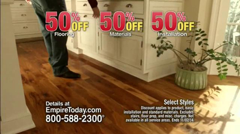 Empire Today 50/50/50 Sale TV Spot, 'Free In-Home Estimate' - Thumbnail 7