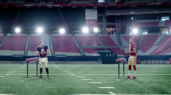 VISA Checkout TV Spot, 'One-Handed' Featuring Larry Fitzgerald, Drew Brees - 396 commercial airings