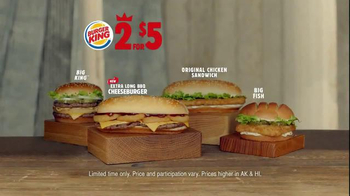 Burger King Extra Long BBQ Cheeseburger TV Spot, '2 for $5: Presentation' - Thumbnail 9