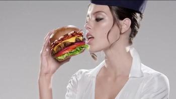 Carl's Jr. Mile High Bacon Thickburger TV Spot, 'Attendant' - Thumbnail 7