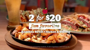 Applebee's 2 for $20: Bourbon Street Chicken & Shrimp TV Spot, 'Beautiful' - Thumbnail 2