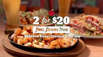 Applebee's 2 for $20: Bourbon Street Chicken & Shrimp TV Spot, 'Beautiful' - Thumbnail 3