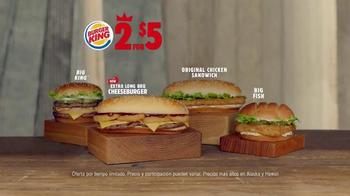 Burger King Extra Long BBQ Cheeseburger TV Spot, '2 por 5: Mejor' [Spanish] - Thumbnail 6