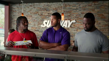 Subway TV Spot, 'Training the Rookie' Feat. Robert Griffin III, Justin Tuck - Thumbnail 1