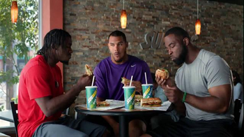 Subway TV Spot, 'Training the Rookie' Feat. Robert Griffin III, Justin Tuck - Thumbnail 4