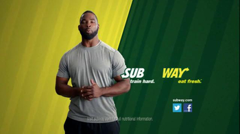 Subway TV Spot, 'Training the Rookie' Feat. Robert Griffin III, Justin Tuck - Thumbnail 5