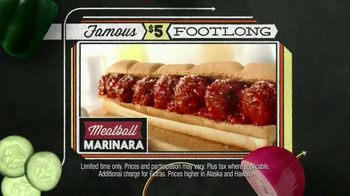Subway Meatball Marinara TV Spot, '$5 Famous Footlongs' - Thumbnail 3