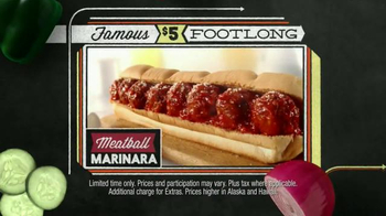 Subway Meatball Marinara TV Spot, '$5 Famous Footlongs' - Thumbnail 4