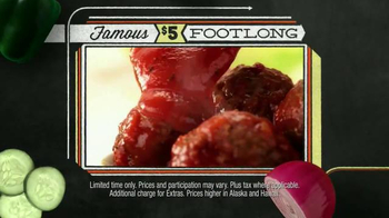 Subway Meatball Marinara TV Spot, '$5 Famous Footlongs' - Thumbnail 5