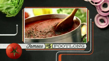 Subway Meatball Marinara TV Spot, '$5 Famous Footlongs' - Thumbnail 7