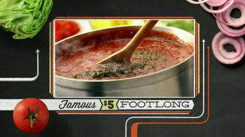 Subway Meatball Marinara TV Spot, '$5 Famous Footlongs' - Thumbnail 8