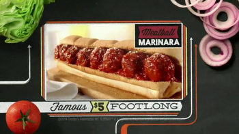 Subway Meatball Marinara TV Spot, '$5 Famous Footlongs' - Thumbnail 9