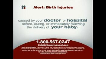 Sokolove Law TV Spot, 'Alert: Birth Injuries' - Thumbnail 2