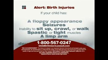 Sokolove Law TV Spot, 'Alert: Birth Injuries' - Thumbnail 3