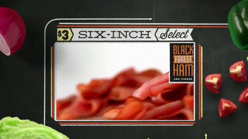 Subway Black Forest Ham and Cheese TV Spot, 'October Six-Inch Select' - Thumbnail 6