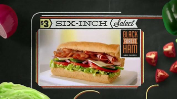 Subway Black Forest Ham and Cheese TV Spot, 'October Six-Inch Select' - Thumbnail 7