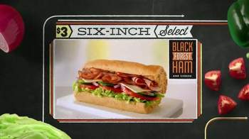 Subway Black Forest Ham and Cheese TV Spot, 'October Six-Inch Select' - Thumbnail 8