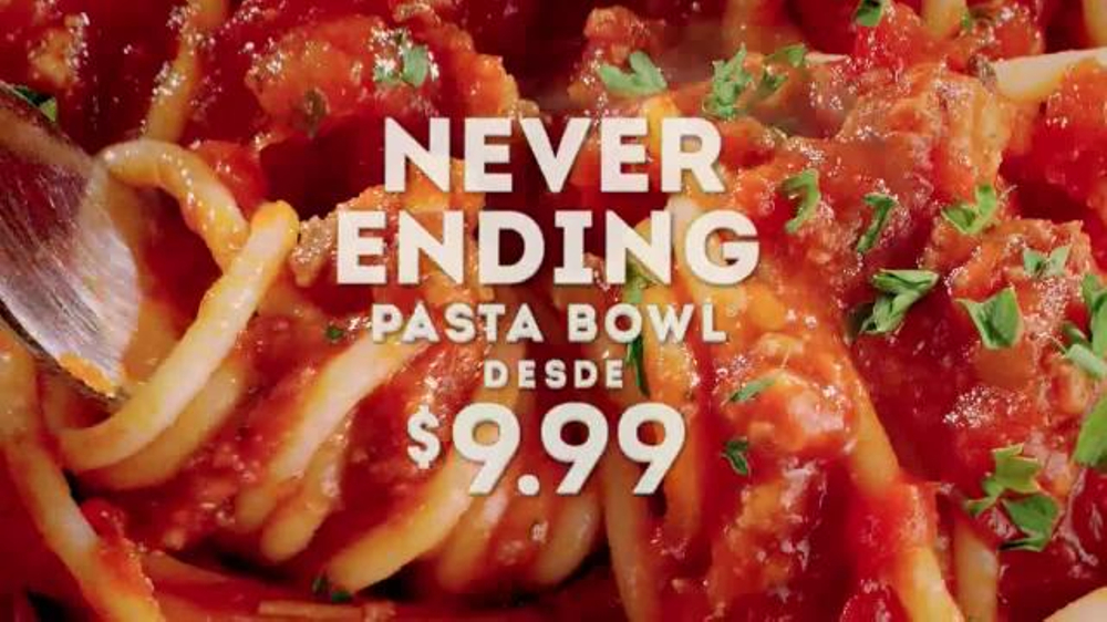 Olive Garden Never Ending Pasta Bowl TV Commercial, 'De Regreso'