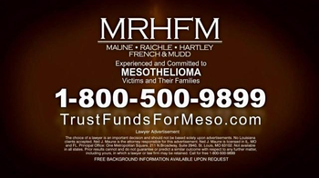 MRHFM Law Firm TV Spot, 'Mesothelioma: Over $18 Billion in Trust Funds' - Thumbnail 5