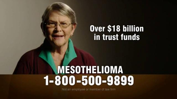 MRHFM Law Firm TV Spot, 'Mesothelioma: Over $18 Billion in Trust Funds' - Thumbnail 2