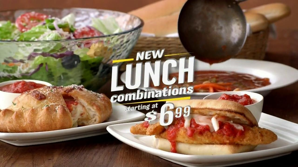 Olive Garden Lunch Combinations TV Commercial, 'Pizzaiola Calzone'