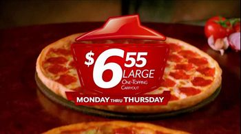 Pizza Hut $6.55 Large One-Topping Carryout TV Spot