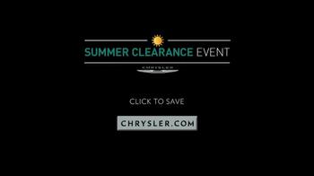 Chrysler Summer Clearance Event TV Spot, 'Sounds of Summer' - Thumbnail 10