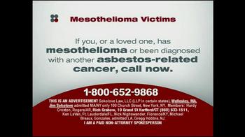 Sokolove Law TV Spot, 'Mesothelioma Victims' - Thumbnail 1