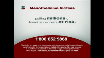 Sokolove Law TV Spot, 'Mesothelioma Victims' - Thumbnail 7