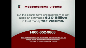 Sokolove Law TV Spot, 'Mesothelioma Victims' - Thumbnail 8