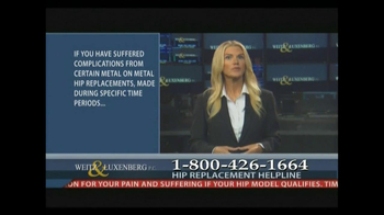 Weitz and Luxenberg TV Spot, 'Metal-on-Metal Hip Replacement' Ft Christina - Thumbnail 8