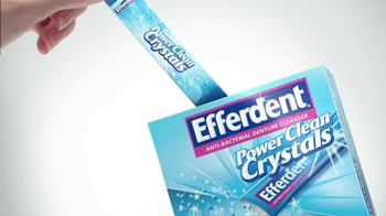 Efferdent Power Clean Crystals TV Spot '99.9% Odors' - Thumbnail 3