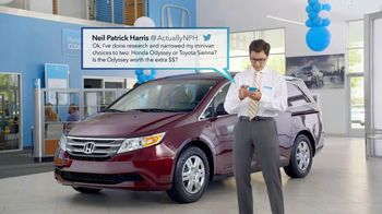 Honda Summer Clearance Event TV Spot, 'Neil Patrick Harris Tweets'