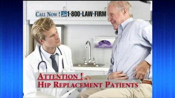 1-800-LAW-FIRM TV Spot, 'Hip Replacement' - Thumbnail 1