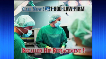 1-800-LAW-FIRM TV Spot, 'Hip Replacement'