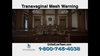 United Law TV Spot, 'Transvaginal Mesh Warning' - Thumbnail 9