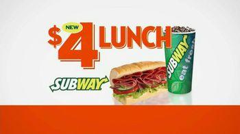 Subway $4 Lunch TV Spot, '4 Everyone'