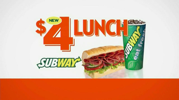 Subway $4 Lunch TV Spot, '4 Everyone' - 5325 commercial airings