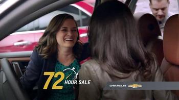Chevrolet 72 Hour Sale TV Spot, 'Surprising Reactions' - 3765 commercial airings