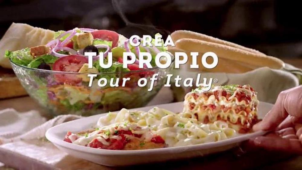 Olive Garden Crea tu Propio Tour of Italy TV Commercial, 'Primera vez'