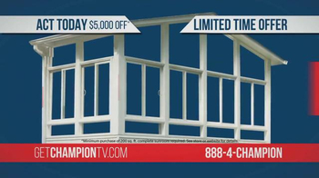 Champion Sun Rooms TV Spot, 'Vacation Home Offer' - Thumbnail 4