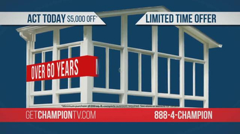Champion Sun Rooms TV Spot, 'Vacation Home Offer' - Thumbnail 5