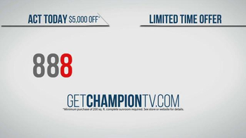 Champion Sun Rooms TV Spot, 'Vacation Home Offer' - Thumbnail 8