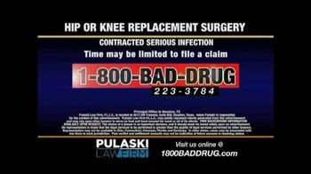 Pulaski & Middleman TV Spot, 'Hip or Knee Replacement'