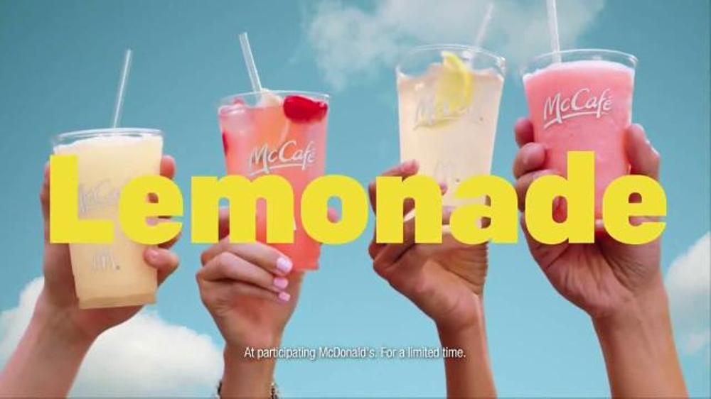 mcdonald s mccafe frozen lemonades tv commercial lemonades song
