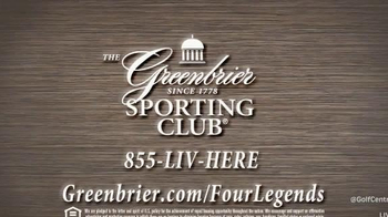 The Greenbrier Sporting Club TV Spot, 'Four Legends' Feat. Arnold Palmer - Thumbnail 8
