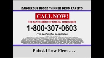 Pulaski & Middleman TV Spot, 'Xarelto Warning' - Thumbnail 10